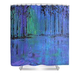 Fireflies Shower Curtain by Patricia Olson
