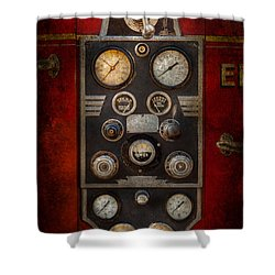 Fireman - Keep An Eye On The Pressure  Shower Curtain by Mike Savad