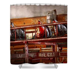 Fireman - Ladder Company 1 Shower Curtain by Mike Savad