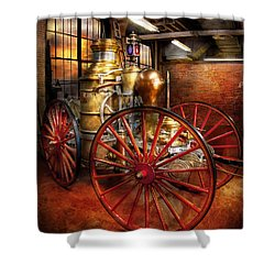 Fireman - One Day A Long Time Ago  Shower Curtain