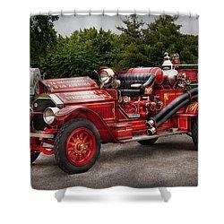 Fireman - Phoenix No2 Stroudsburg Pa 1923  Shower Curtain by Mike Savad