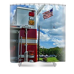 Fireman - Proudly They Serve Shower Curtain by Paul Ward
