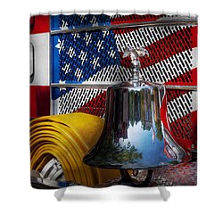 Fireman - Red Hot  Shower Curtain