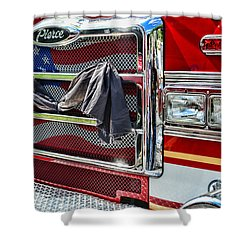 Fireman - Remembering Fallen Heroes Shower Curtain by Paul Ward