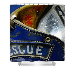 Fireman Rescue Shower Curtain by Paul Ward