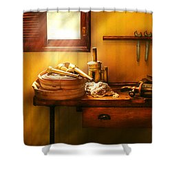 Fireman - The Humble Fire Hose Shower Curtain by Mike Savad