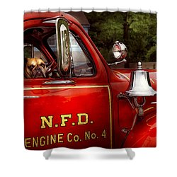 Fireman - This Is My Truck Shower Curtain by Mike Savad
