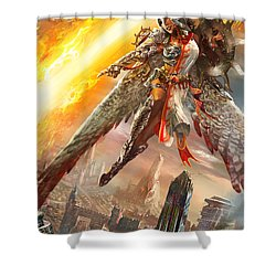 Firemane Avenger Promo Shower Curtain by Ryan Barger