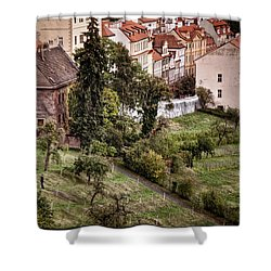 Firenze In Prague Shower Curtain by Joan Carroll