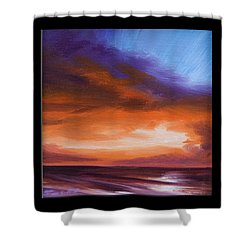 Firesun Sky Shower Curtain by James Christopher Hill