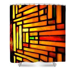 Firewall Shower Curtain by Newel Hunter