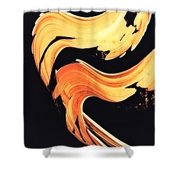 Firewater 5 - Abstract Art By Sharon Cummings Shower Curtain by Sharon Cummings
