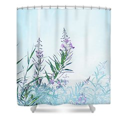 Fireweed Number Two Shower Curtain by Brian Boyle