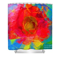 Firewheel - Gaillardia Pulchella Shower Curtain