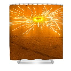 Firework Wheel Shower Curtain by Image World
