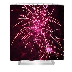 Rockets Red Glare Fireworks Shower Curtain by Howard Tenke