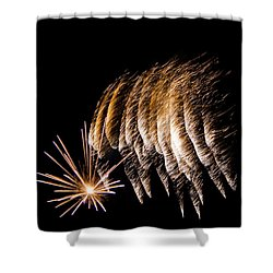 Shower Curtain featuring the photograph Fireworks 1 by Susan  McMenamin