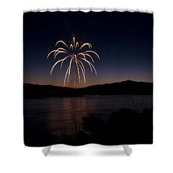 Shower Curtain featuring the photograph Fireworks 11 by Sonya Lang