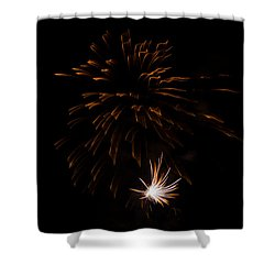 Shower Curtain featuring the photograph Fireworks 2 by Susan  McMenamin