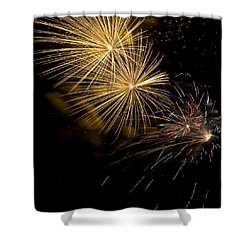 Fireworks 20 Shower Curtain by Sandy Swanson