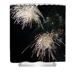 Shower Curtain featuring the photograph Fireworks 3 by Susan  McMenamin