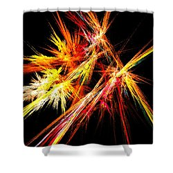 Fireworks Shower Curtain by Anastasiya Malakhova