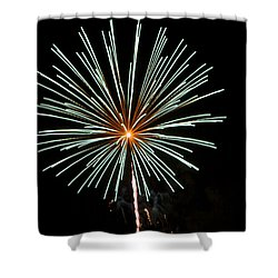 Fireworks Bursts Colors And Shapes 2 Shower Curtain by SC Heffner