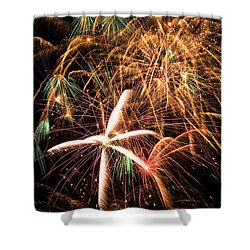 Fireworks Exploding Everywhere Shower Curtain by Garry Gay