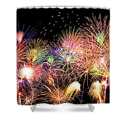 Fireworks Finale Shower Curtain