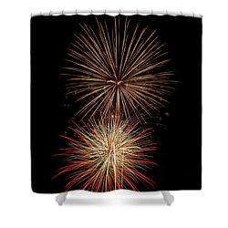 Fireworks Shower Curtain by Michael McGowan