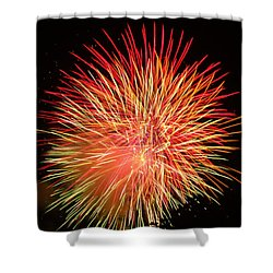 Fireworks  Shower Curtain by Michael Porchik