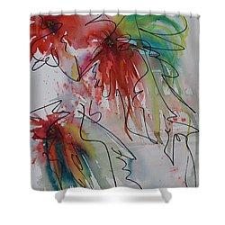 Fireworks Shower Curtain by Nancy Gebhardt