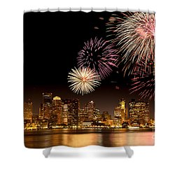 Fireworks Over Boston Harbor Shower Curtain