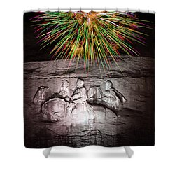 Fireworks Over Stone Mountain Shower Curtain