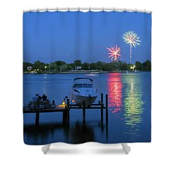 Fireworks Over Stony Creek Shower Curtain by Brian Wallace