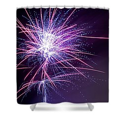 Fireworks - Purple Haze Shower Curtain