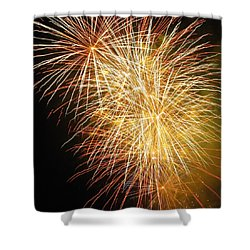 Fireworks Shower Curtain by Ramona Johnston
