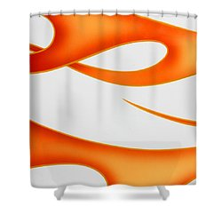 Shower Curtain featuring the photograph Firey Orange by Joe Kozlowski