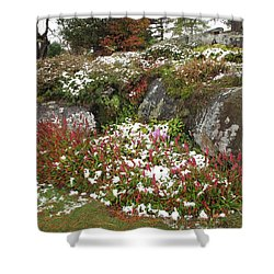 First Autumn Snow Shower Curtain