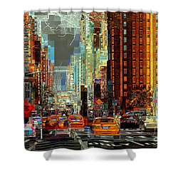 First Avenue - New York Ny Shower Curtain