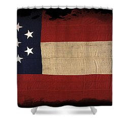 First Confederate Flag Shower Curtain by Daniel Hagerman
