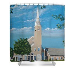 First Congregational Church Shower Curtain by Norm Starks