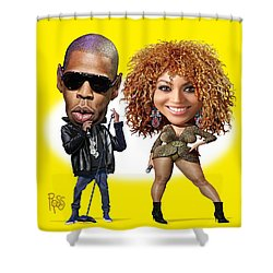 First Couple Shower Curtain by Scott Ross