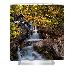 First Falls Shower Curtain by Cat Connor