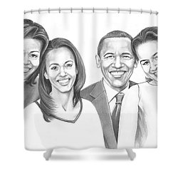 First-family 2013 Shower Curtain by Murphy Elliott