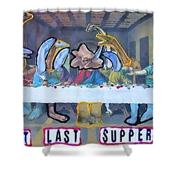 First Last Supper Shower Curtain