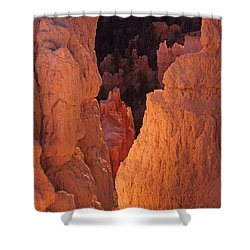 Shower Curtain featuring the photograph First Light On Hoodoos by Susan Rovira