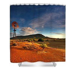 First Light On Wilpena Pound Shower Curtain
