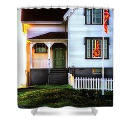 First Light Shower Curtain by Scott Thorp