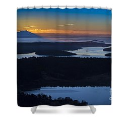 First Light Shower Curtain by Sonya Lang
